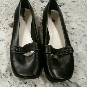 BP for Nordstrom Mary Jane Black Leather Flats EUC
